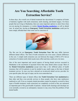 Are You Searching Affordable Tooth Extraction Service