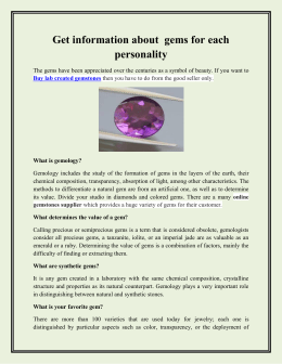 Get information about  gems for each personality