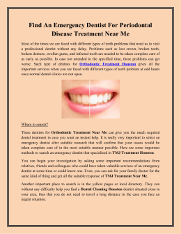Find An Emergency Dentist For Periodontal Disease Treatment Near Me