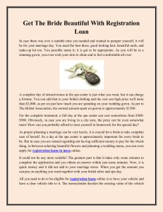 Get The Bride Beautiful With Registration Loan