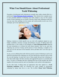 What You Should Know About Professional Teeth Whitening