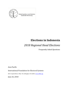 2018 Indonesian Regional Head Elections_FAQs (by IFES)