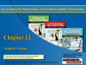 Ch 12 Accounting for Partnerships and Limited Liability Companies