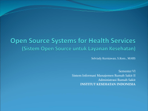Open Source Systems for Health Services