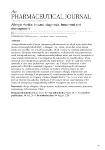 pharmaceutical-journal.com-Allergic rhinitis impact diagnosis treatment and management