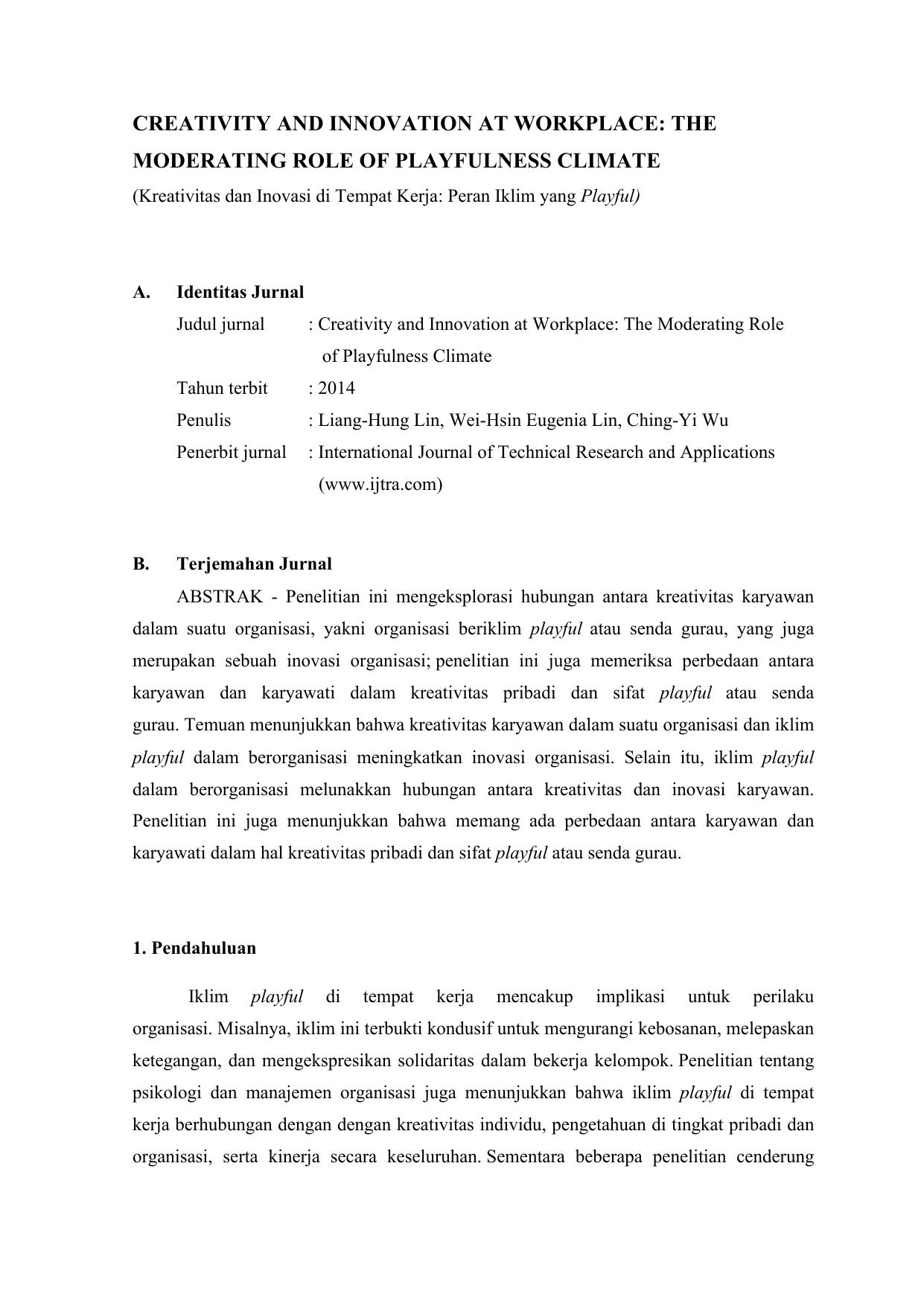 Paper Kritik Jurnal Internasional