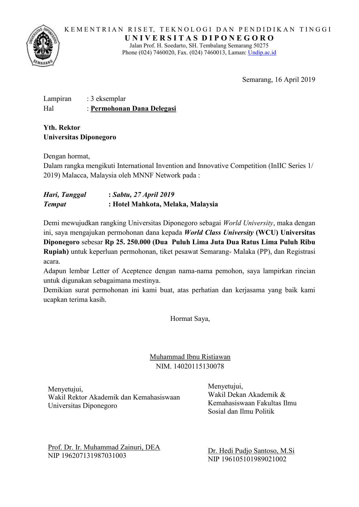 21732 Surat Rekomendasi Beasiswa Vietnam National University