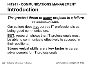 ppt COMMUNICATIONS MANAGEMENT ing