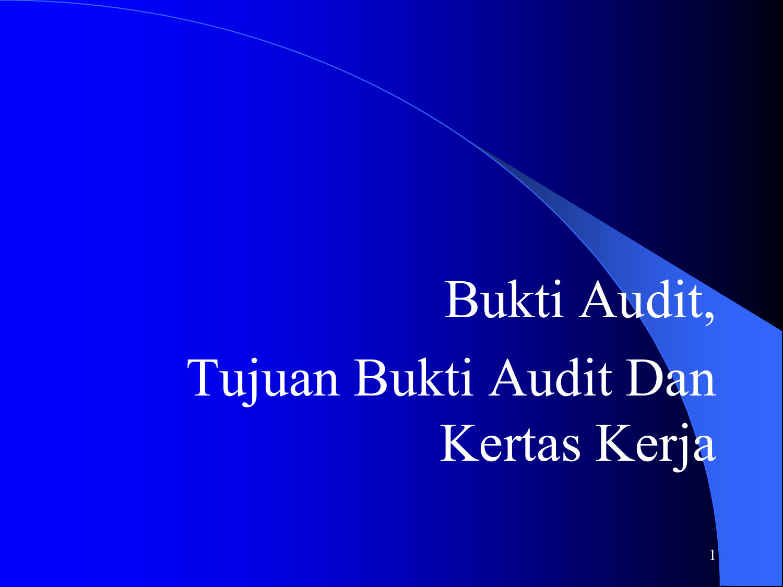 V Bukti Audit Tujuan Audit Boynton
