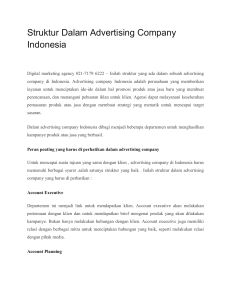 Struktur Dalam Advertising Company Indonesia