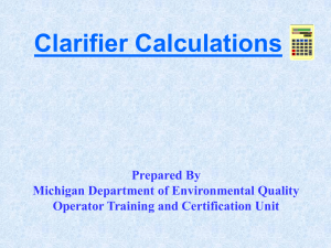 Clarifier-calculations Michigan