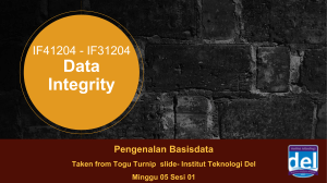 Data Integrity TNT