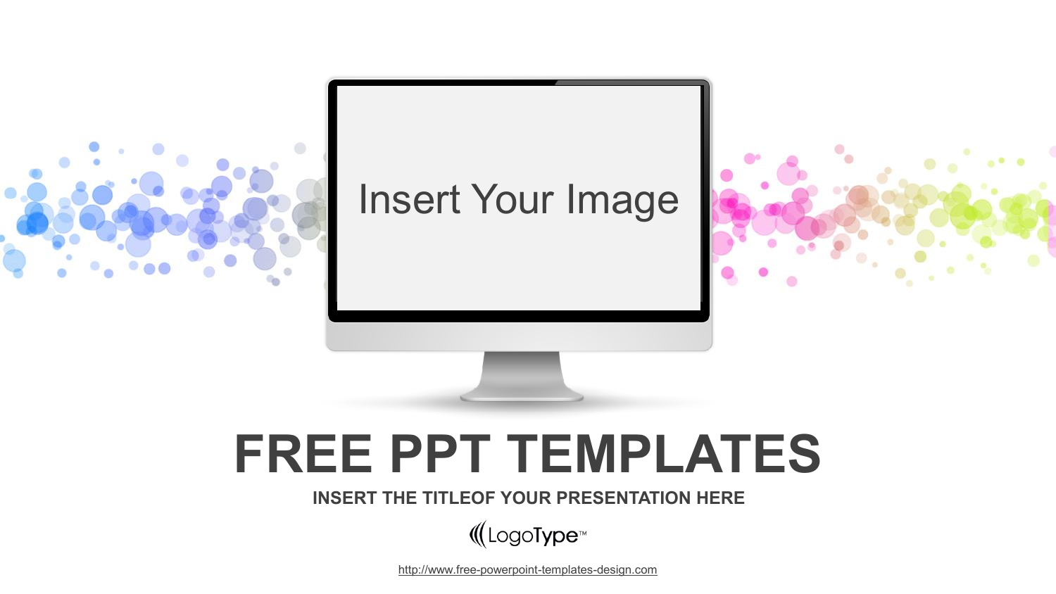 Simple Monitor Powerpoint Template Powerpoint Templates