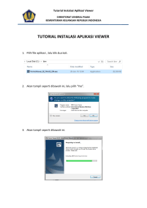 Tutorial Instalasi Aplikasi Viewer