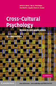 308475 John W. Berry, Ype H. Poortinga, Marshall H. Segall, Pierre R. Dasen - Cross-Cultural Psychology  Research and Applications-Cambridge University Press (2002)