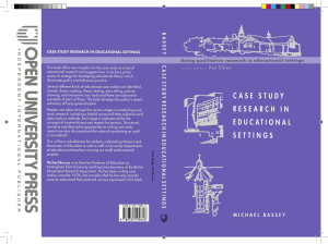 (Doing Qualitative Research in Educational Settings) Michael Bassey - Case Study Research in Educational Settings-Open University Press (1999)