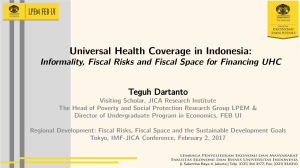 UHC in Indonesia by Teguh Dartanto