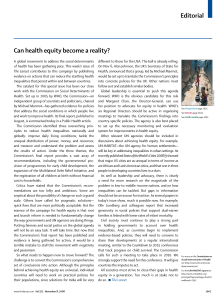 Can Health Equity Become Reality
