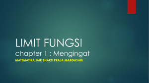 LIMIT FUNGSI chapter 1 mengingat