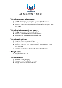 JOB DESCRIPTION  IT DIVISION