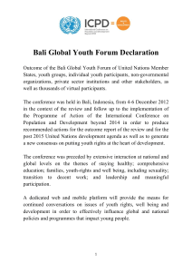 bali global youth forum declaration finalwfn