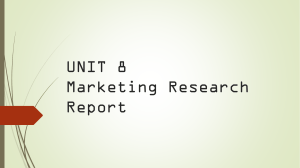 Unit 8 Marketing Research Report