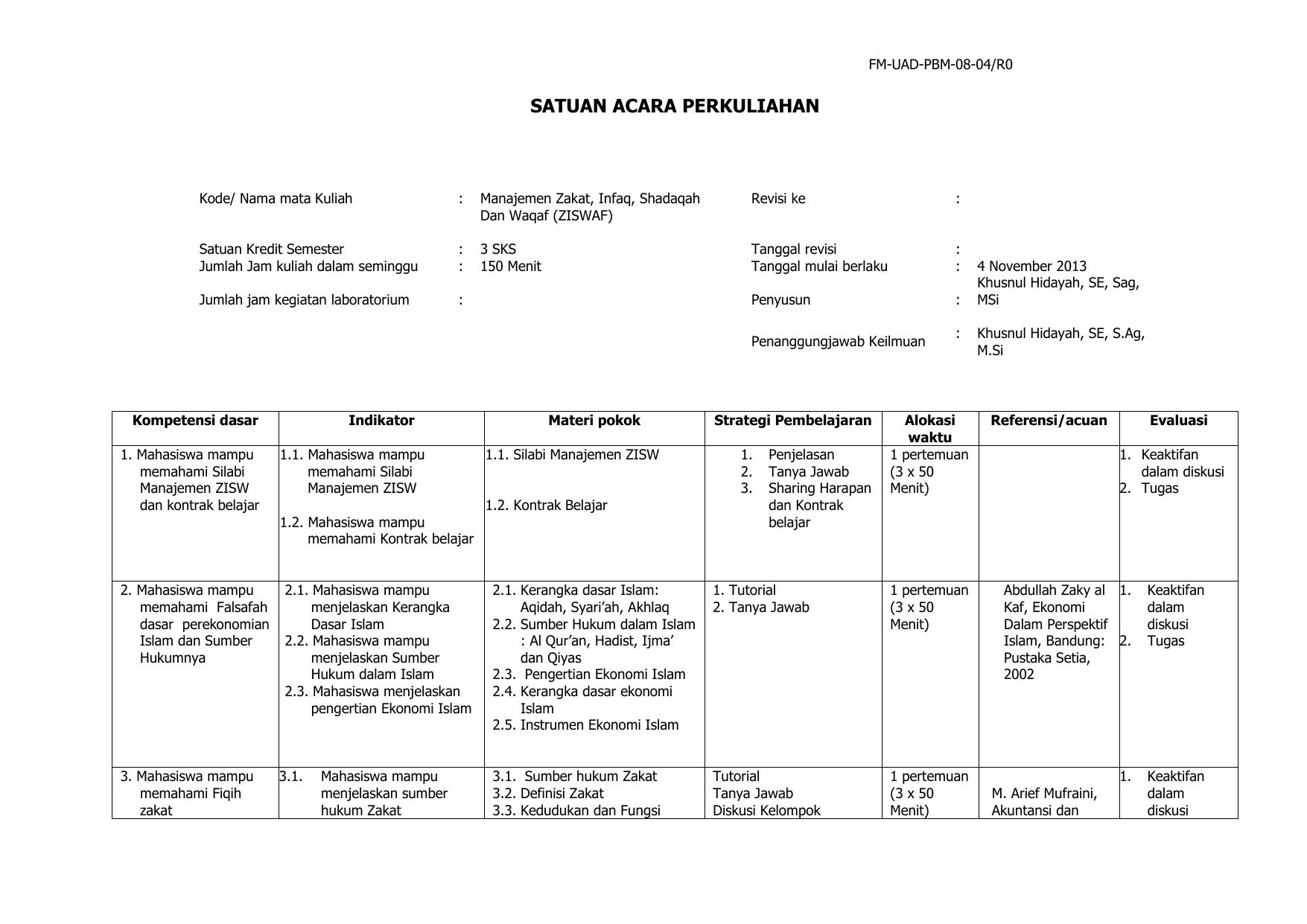 Tabel Perbedaan Zakat Infak Sedekah Dan Wakaf - Berbagai ...