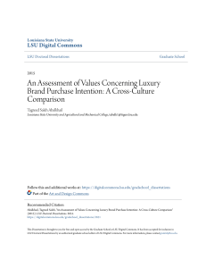 An Assessment of Values Concerning Luxury Brand Purchase Intentio