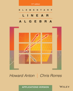Elementary linear algebra applications v