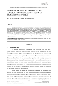[Journal of Applied Mathematics Statistics and Informatics] Minimize Traffic Congestion An Application of Maximum Flow in Dynamic Networks