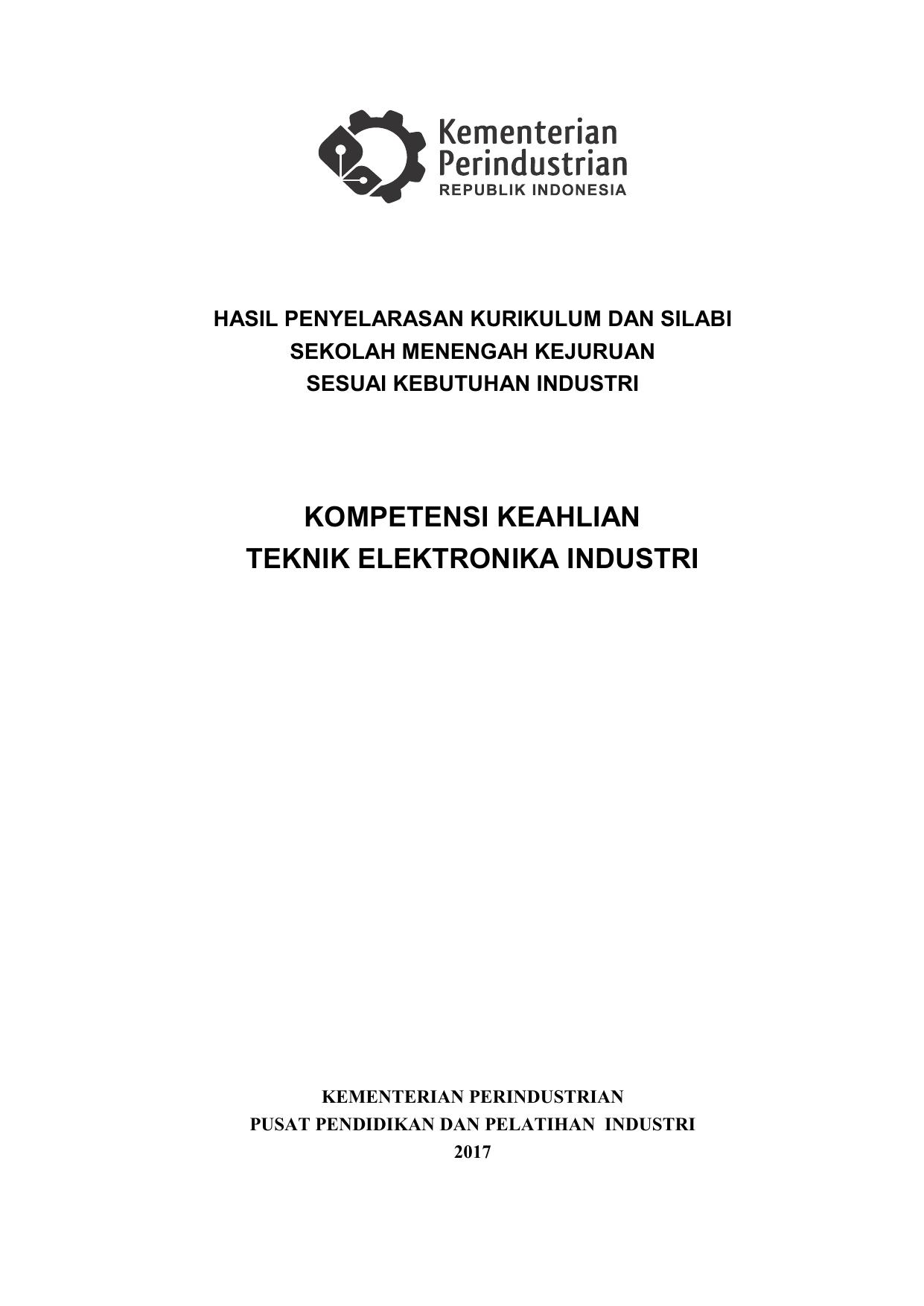 Gabung 4 Silabus Teknik Elektronika Industri 78 Hal