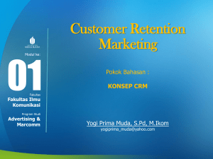 Customer Retention Marketing Modul-TM1
