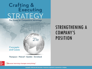 Copy of CHAPTER 6 Strengthening a  Company's Competitive Position