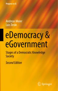 eDemocracy & eGovernment Stages of a Democratic Knowledge Society, 2nd Edition