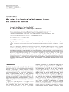 The infant skin barrier can we preserve, protect, and enhance the barrier (1)