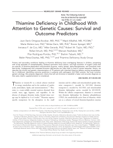 thiamine deficiency (SHARE)