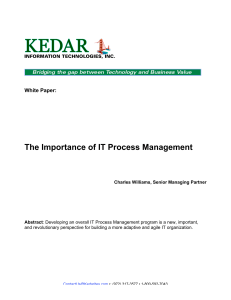 The Importance of IT Process Management