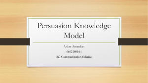 Persuassion Model Knowledge