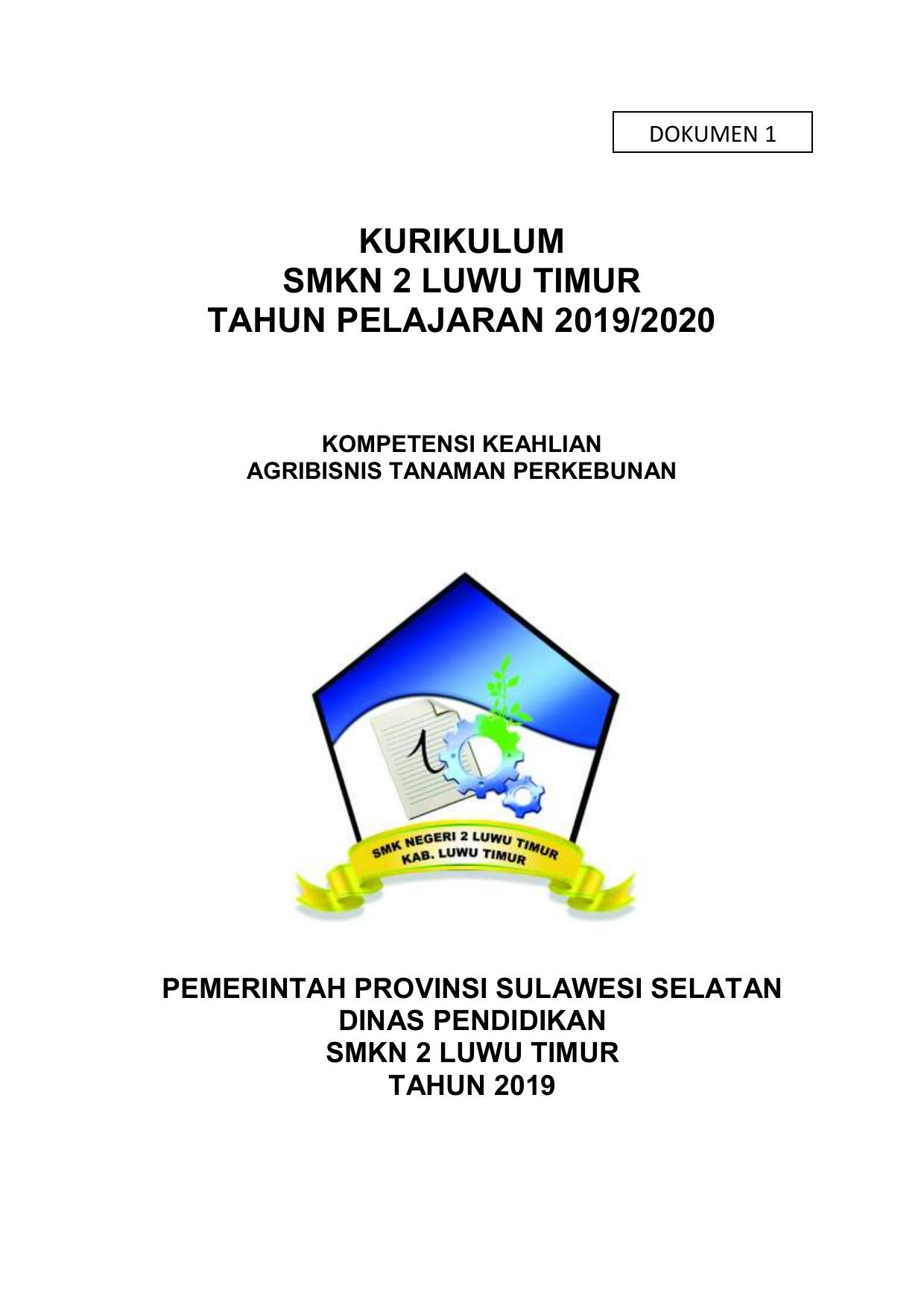 Dokumen I Jurusan Atp Smkn 2 Luwu Timur