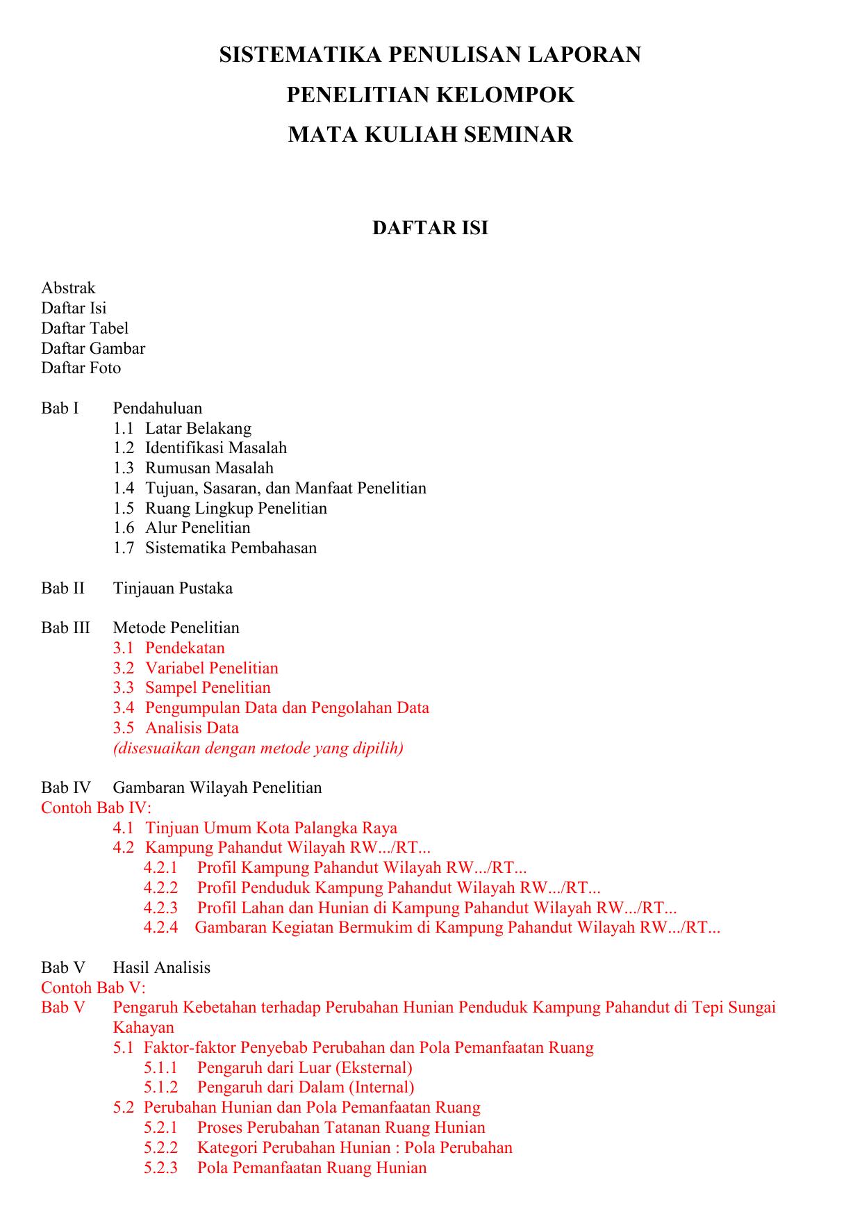 Daftar Isi Seminar Penelitian Kasus 2017