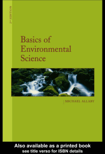 Basics of Environmental Sci (Section 1)