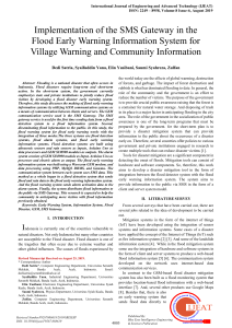 Implementation of the SMS Gateway in the Flood Early Warning Information System for Village Warning and Community Information
