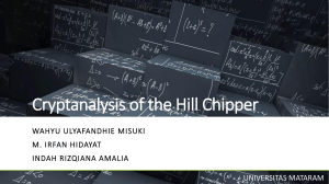 Cryptanalysis of Hill Cipher