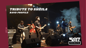 Band Profile - Tribute to Sheila