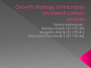 Growth strategy of microbes on mixed carbon
