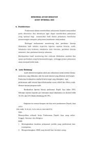 Laporan Kegiatan Audit Internal Puskesmas