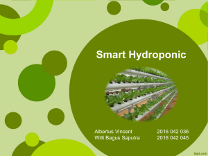 PPT Smart Hydroponic - Albertus Vincent dan Willi Bagus
