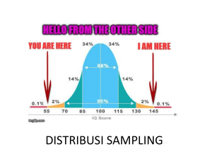 1. DISTRIBUSI SAMPLING