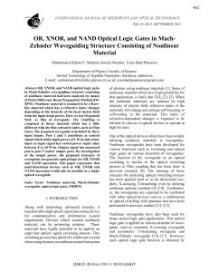 OR, XNOR, and NAND Optical Logic Gates in Mach-Zehnder Waveguiding Structure Consisting of Nonlinear Material