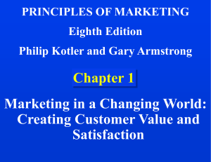 PRINCIPLES OF MARKETING Eighth Edition Philip Kotler and Gary Armstrong